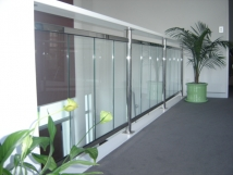Stainless steel & glass